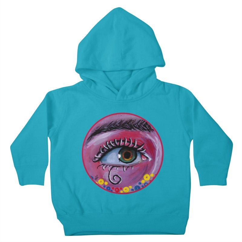 """""""eye of the possum"""" redesign Kids Toddler Pullover Hoody by J. Lavallee's Artist Shop"""