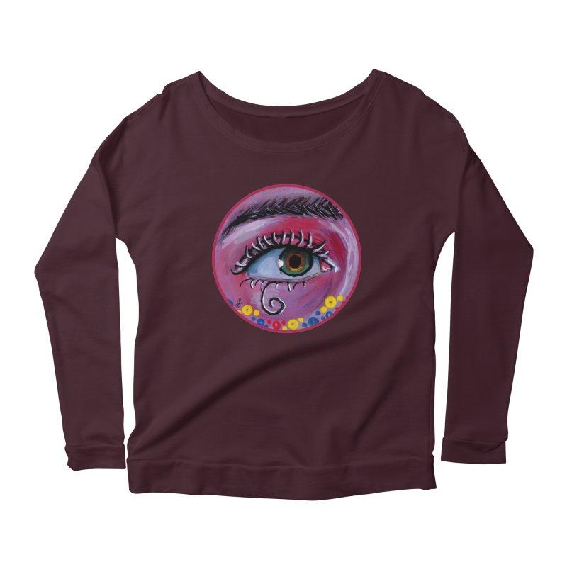 """eye of the possum"" redesign Women's Scoop Neck Longsleeve T-Shirt by J. Lavallee's Artist Shop"