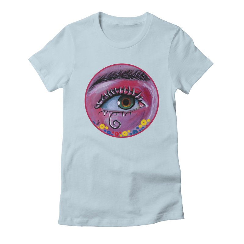 """eye of the possum"" redesign Women's Fitted T-Shirt by J. Lavallee's Artist Shop"