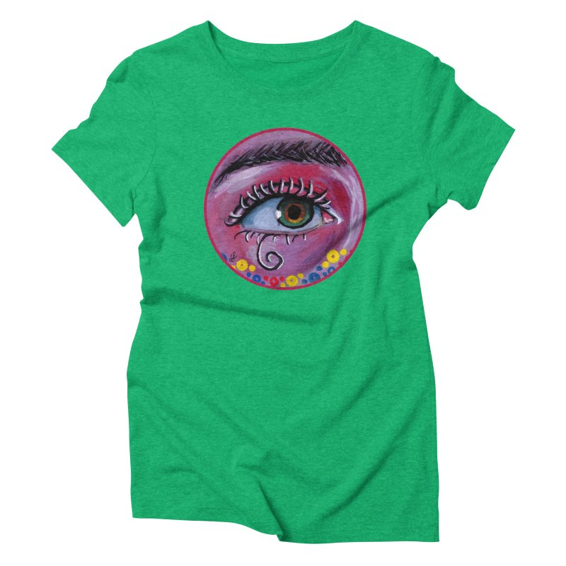 """eye of the possum"" redesign Women's Triblend T-Shirt by J. Lavallee's Artist Shop"