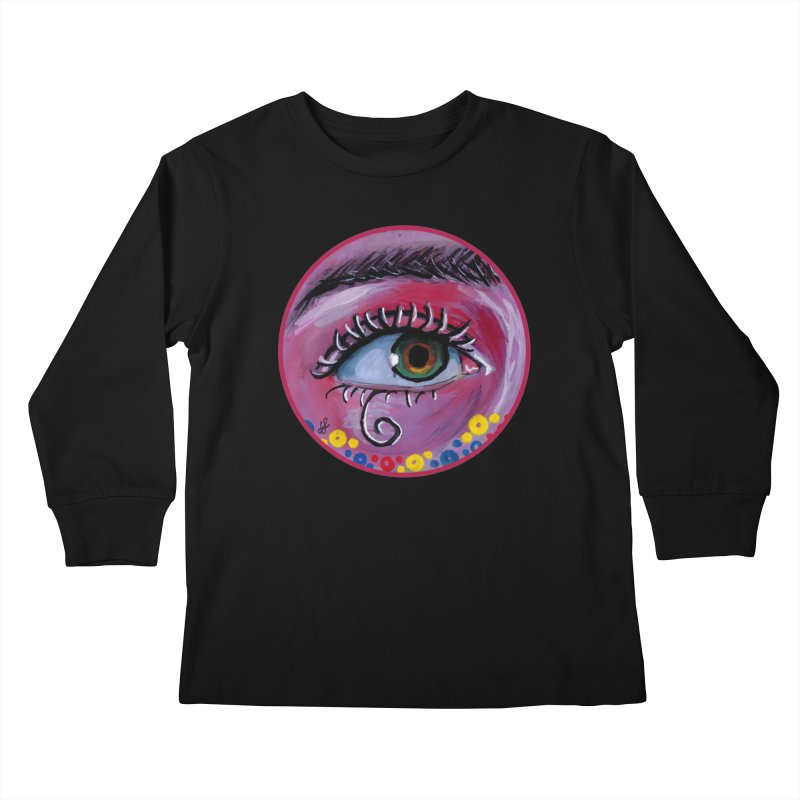 """eye of the possum"" redesign Kids Longsleeve T-Shirt by J. Lavallee's Artist Shop"