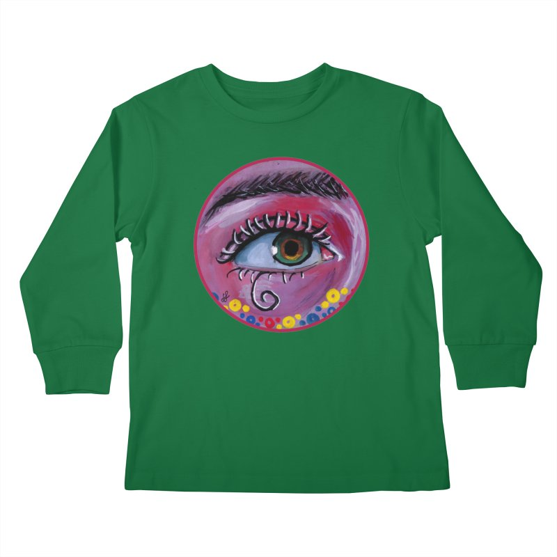 """eye of the possum"" redesign Kids Longsleeve T-Shirt by J. Lavallee's Artist Shop"