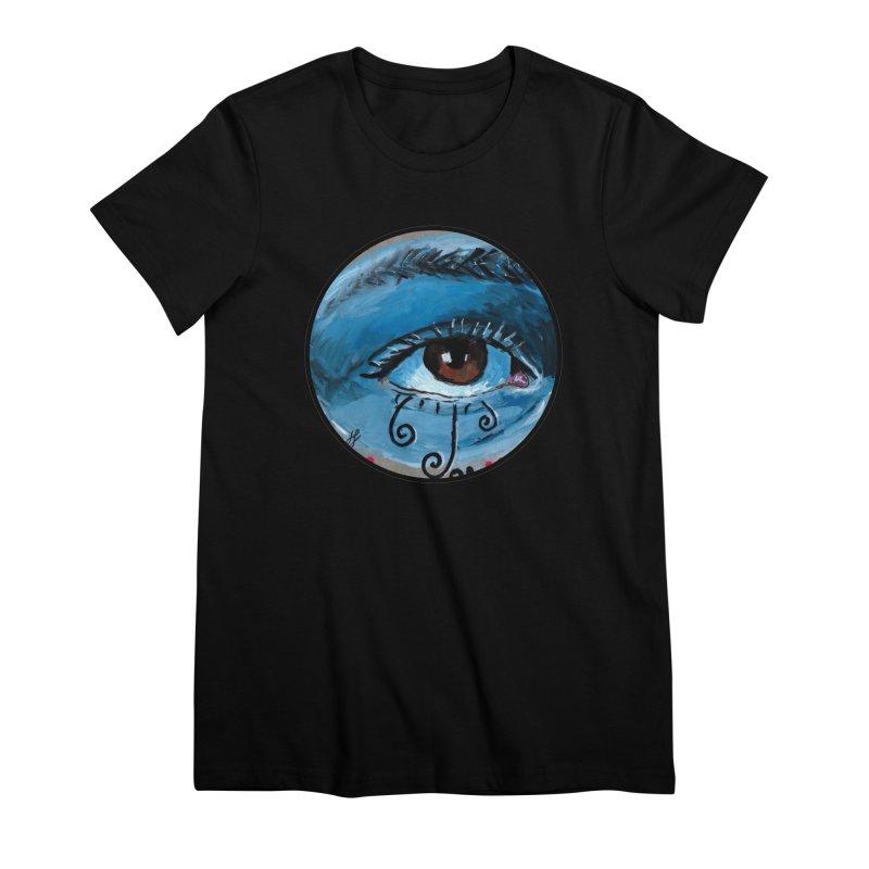 """eye study #1"" redesign Women's Premium T-Shirt by J. Lavallee's Artist Shop"