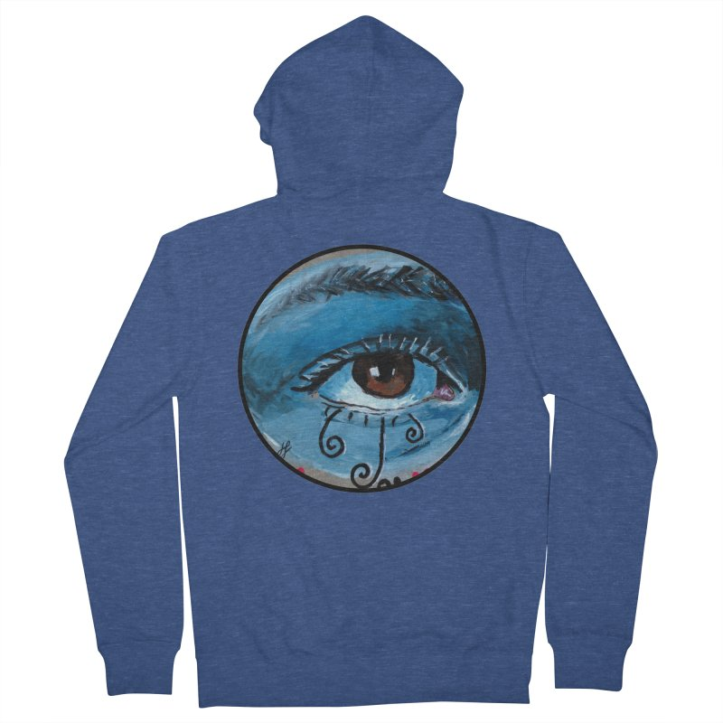 """eye study #1"" redesign Women's French Terry Zip-Up Hoody by J. Lavallee's Artist Shop"