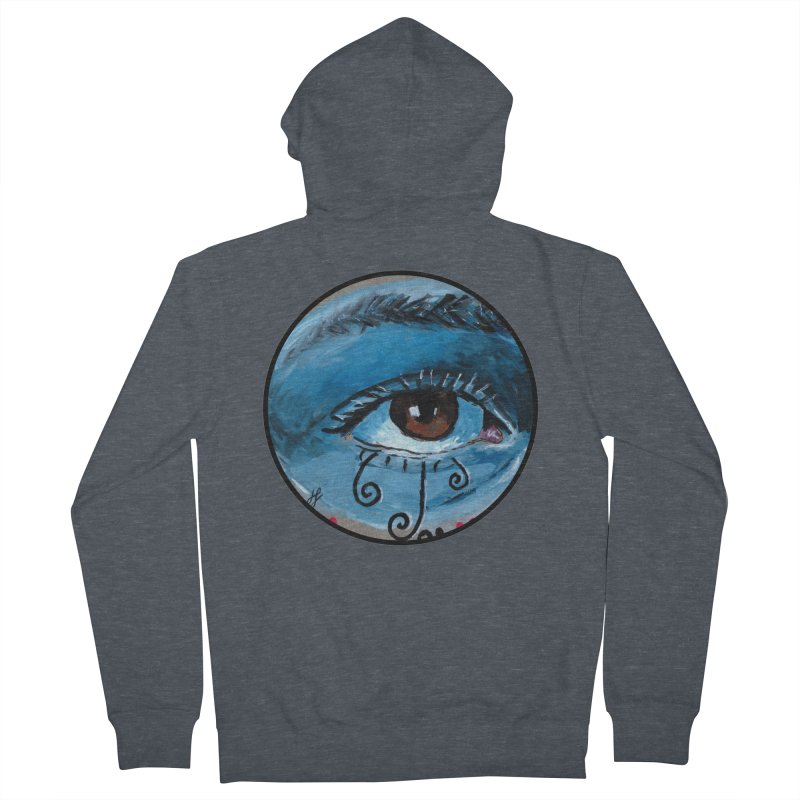 """""""eye study #1"""" redesign Women's French Terry Zip-Up Hoody by J. Lavallee's Artist Shop"""