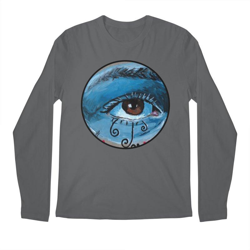 """eye study #1"" redesign Men's Regular Longsleeve T-Shirt by J. Lavallee's Artist Shop"