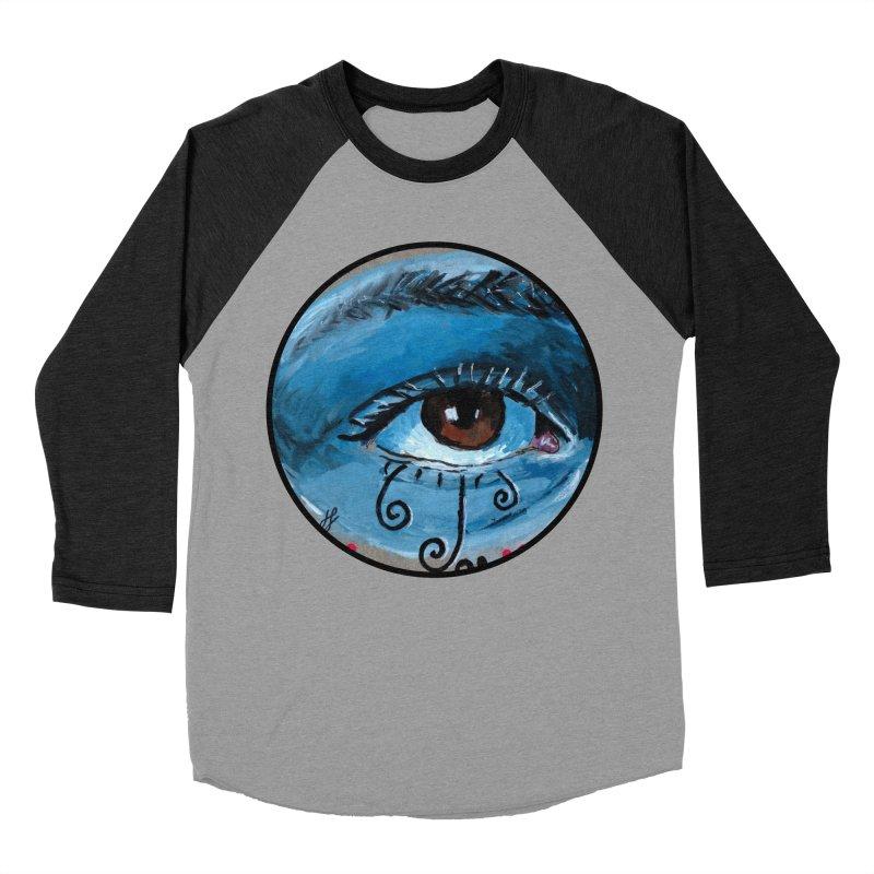 """eye study #1"" redesign Women's Baseball Triblend Longsleeve T-Shirt by J. Lavallee's Artist Shop"