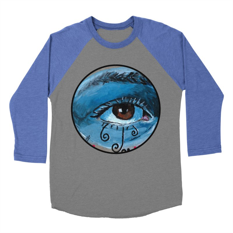 """eye study #1"" redesign Men's Baseball Triblend Longsleeve T-Shirt by J. Lavallee's Artist Shop"