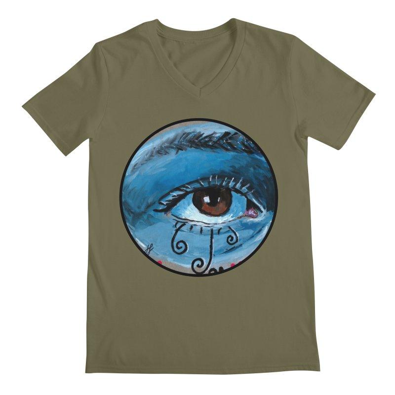 """eye study #1"" redesign Men's Regular V-Neck by J. Lavallee's Artist Shop"