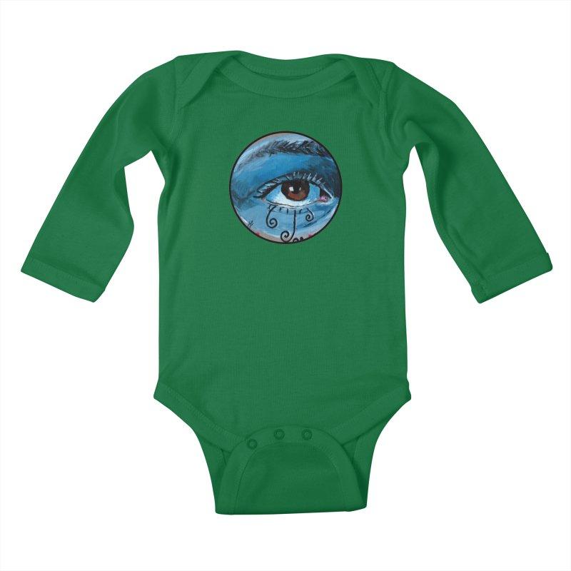 """eye study #1"" redesign Kids Baby Longsleeve Bodysuit by J. Lavallee's Artist Shop"