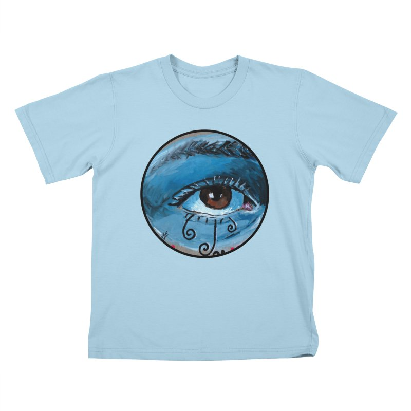 """eye study #1"" redesign Kids T-Shirt by J. Lavallee's Artist Shop"