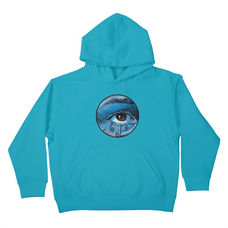 """""""eye study #1"""" redesign Kids Pullover Hoody by J. Lavallee's Artist Shop"""