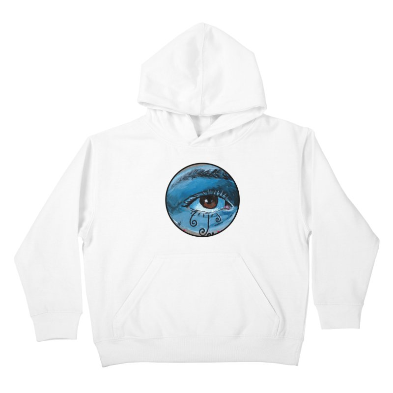 """eye study #1"" redesign Kids Pullover Hoody by J. Lavallee's Artist Shop"