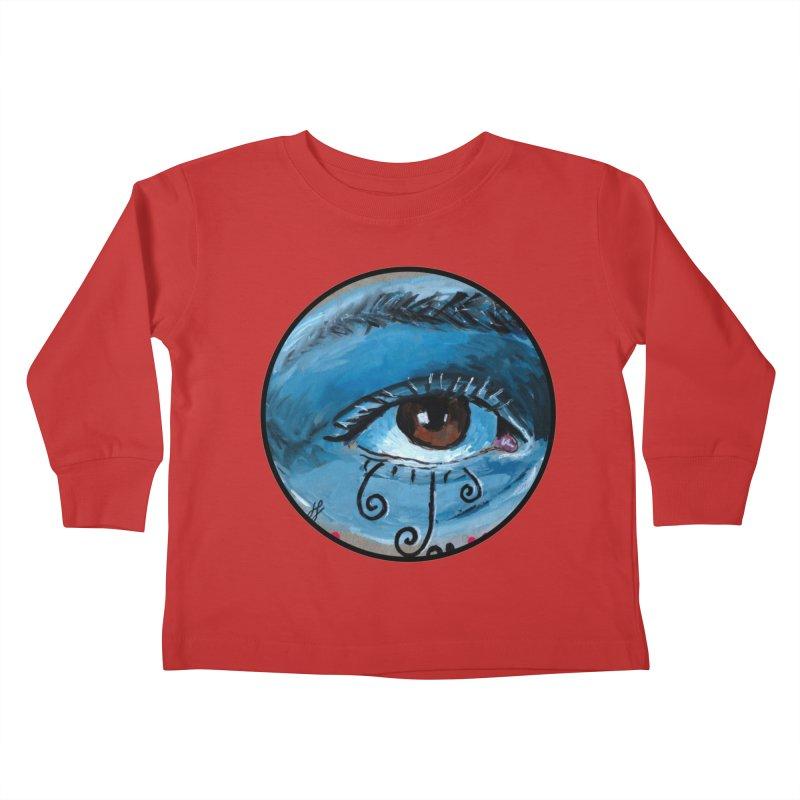 """eye study #1"" redesign Kids Toddler Longsleeve T-Shirt by J. Lavallee's Artist Shop"