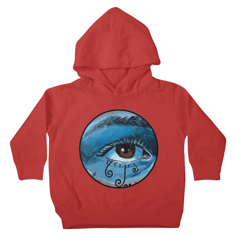 """""""eye study #1"""" redesign Kids Toddler Pullover Hoody by J. Lavallee's Artist Shop"""