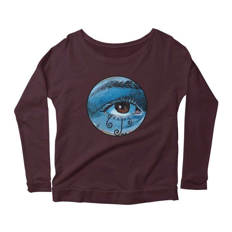 """eye study #1"" redesign Women's Scoop Neck Longsleeve T-Shirt by J. Lavallee's Artist Shop"