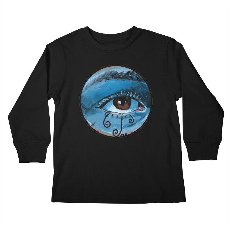 """eye study #1"" redesign Kids Longsleeve T-Shirt by J. Lavallee's Artist Shop"