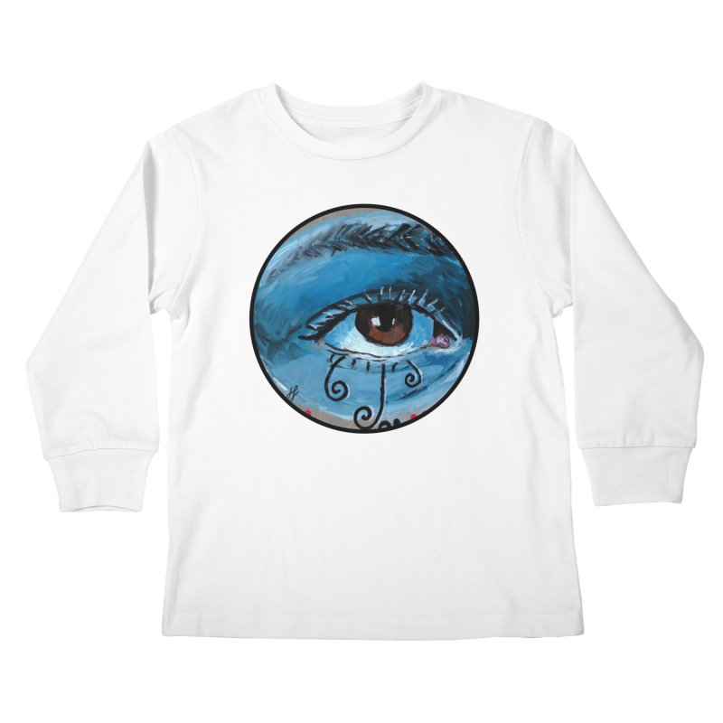 """eye study #1"" redesign Kids Longsleeve T-Shirt by J. Lavallee's Artist Shop"