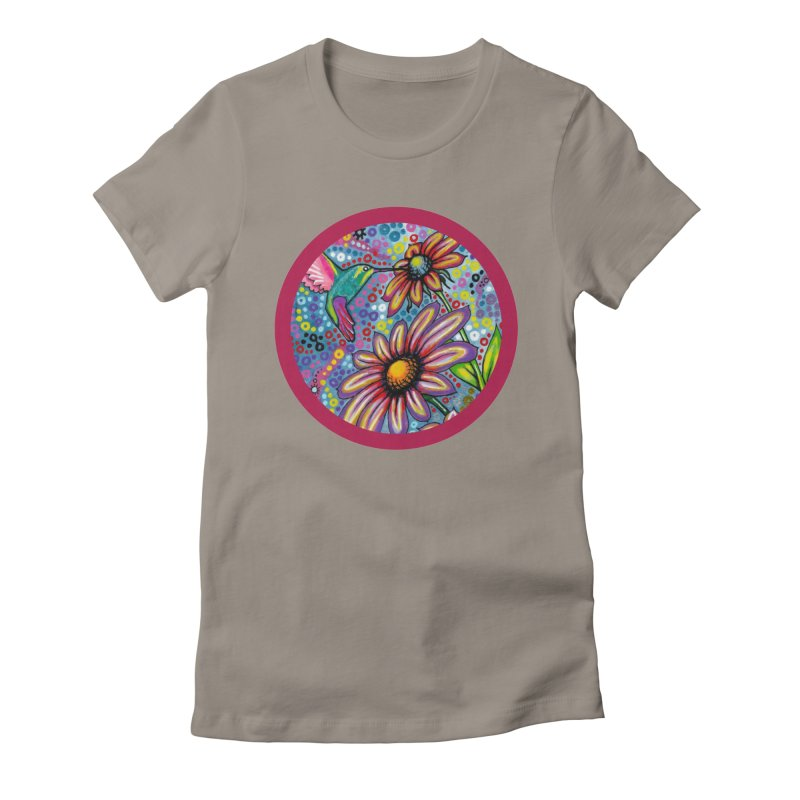 """summertime"" redesign Women's Fitted T-Shirt by J. Lavallee's Artist Shop"