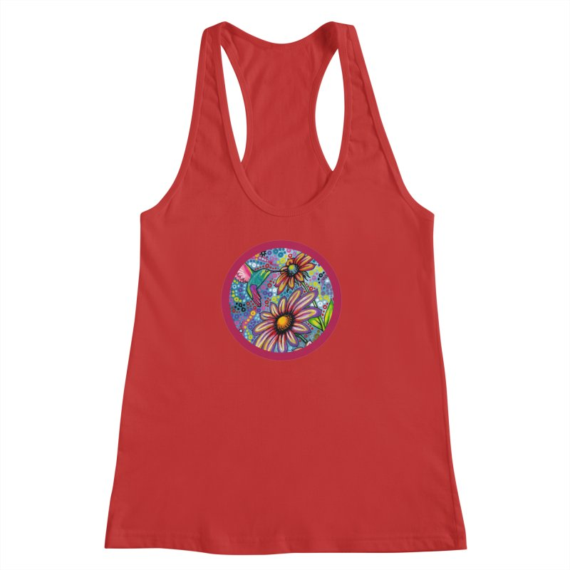 """summertime"" redesign Women's Racerback Tank by J. Lavallee's Artist Shop"