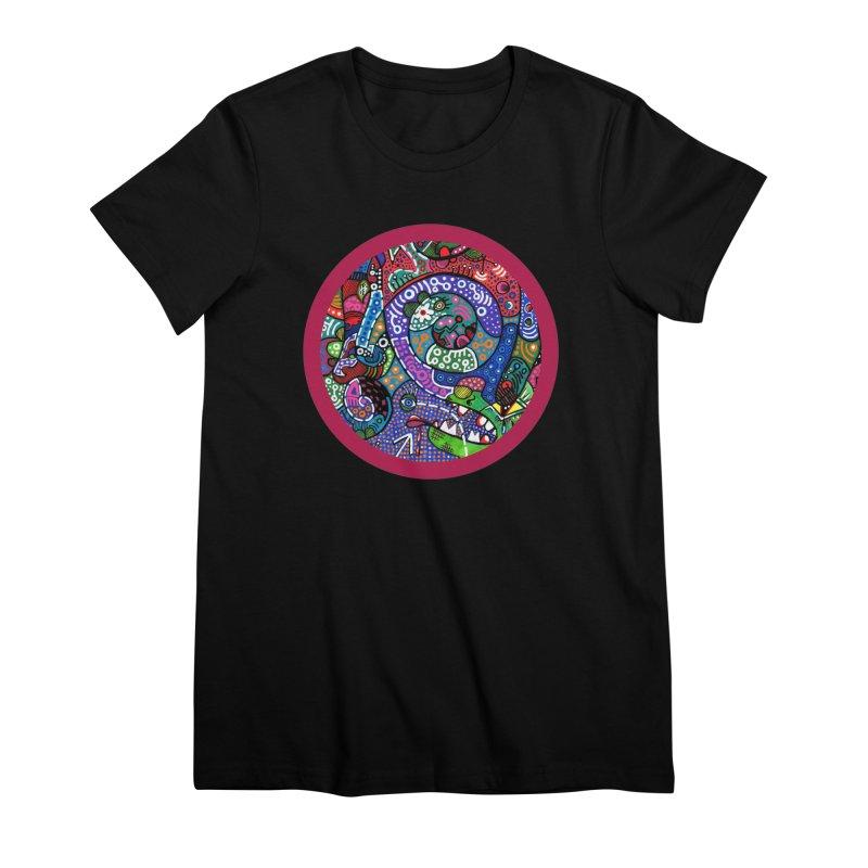 """the alligator in the garden"" redesign Women's Premium T-Shirt by J. Lavallee's Artist Shop"