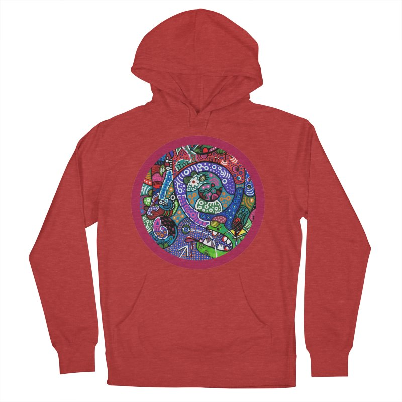 """""""the alligator in the garden"""" redesign Women's French Terry Pullover Hoody by J. Lavallee's Artist Shop"""