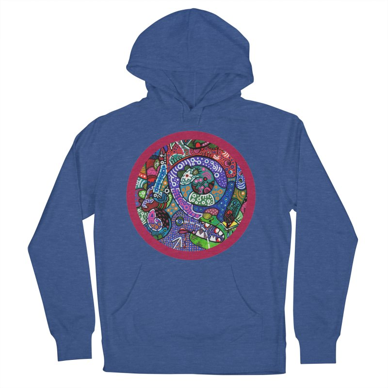 """""""the alligator in the garden"""" redesign Men's French Terry Pullover Hoody by J. Lavallee's Artist Shop"""