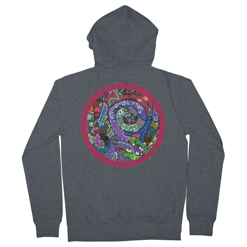 """""""the alligator in the garden"""" redesign Women's French Terry Zip-Up Hoody by J. Lavallee's Artist Shop"""