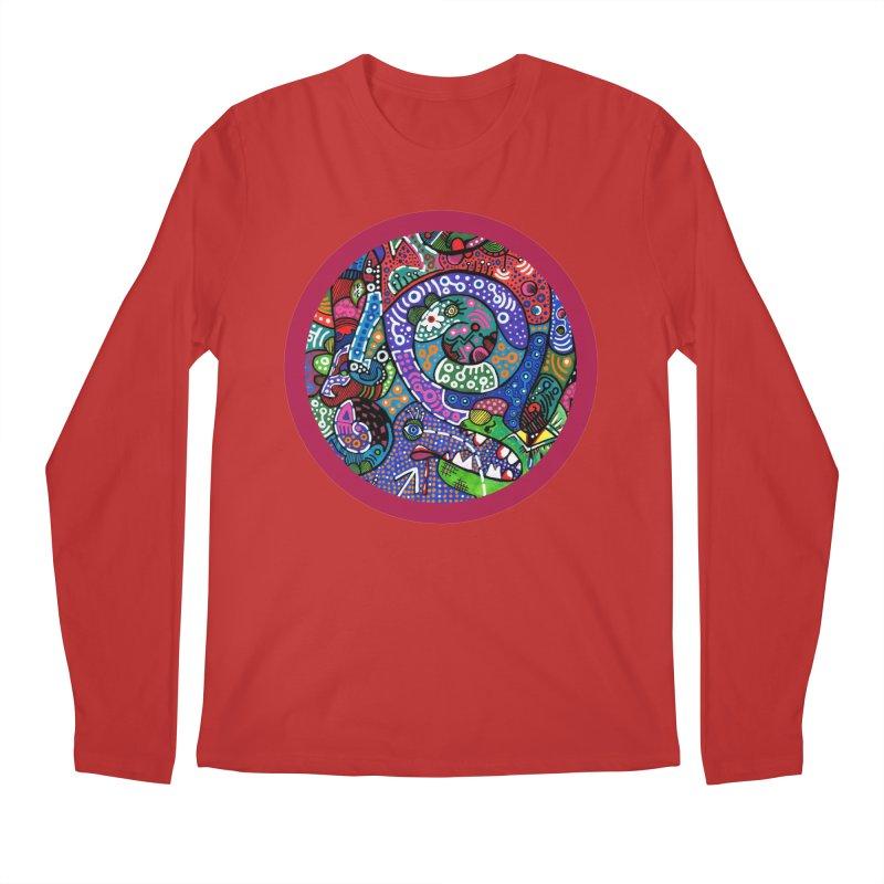"""the alligator in the garden"" redesign Men's Regular Longsleeve T-Shirt by J. Lavallee's Artist Shop"