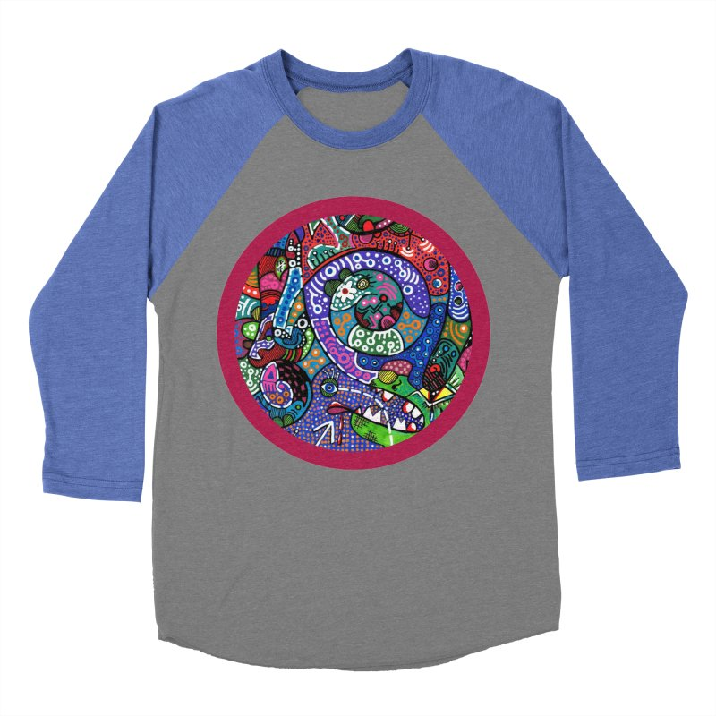 """the alligator in the garden"" redesign Women's Baseball Triblend Longsleeve T-Shirt by J. Lavallee's Artist Shop"