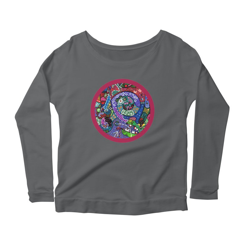 """the alligator in the garden"" redesign Women's Scoop Neck Longsleeve T-Shirt by J. Lavallee's Artist Shop"