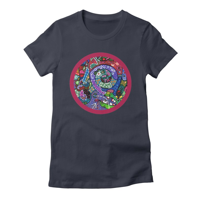 """the alligator in the garden"" redesign Women's Fitted T-Shirt by J. Lavallee's Artist Shop"