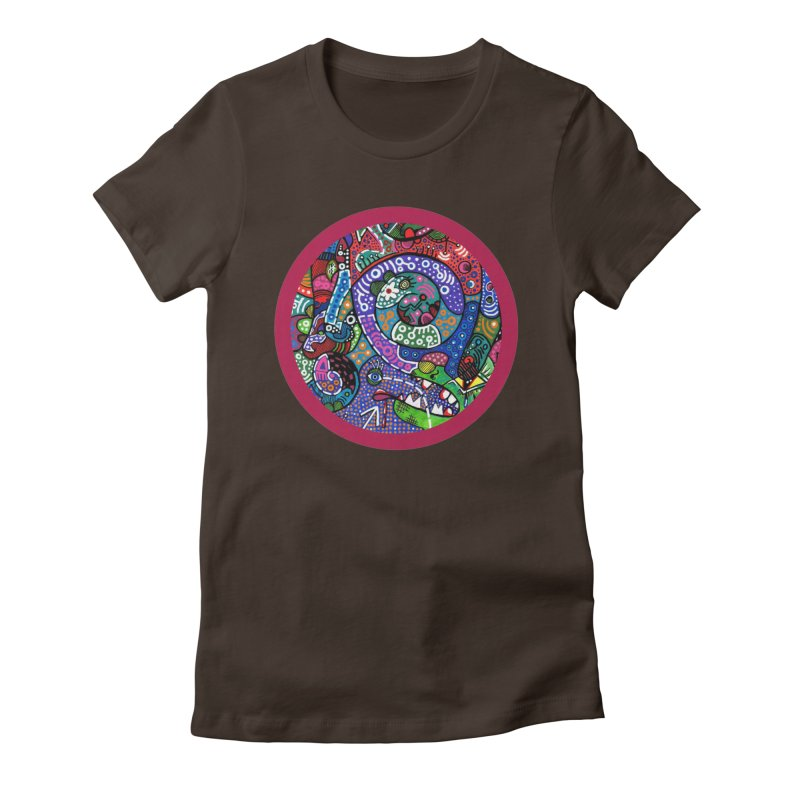 """""""the alligator in the garden"""" redesign Women's Fitted T-Shirt by J. Lavallee's Artist Shop"""