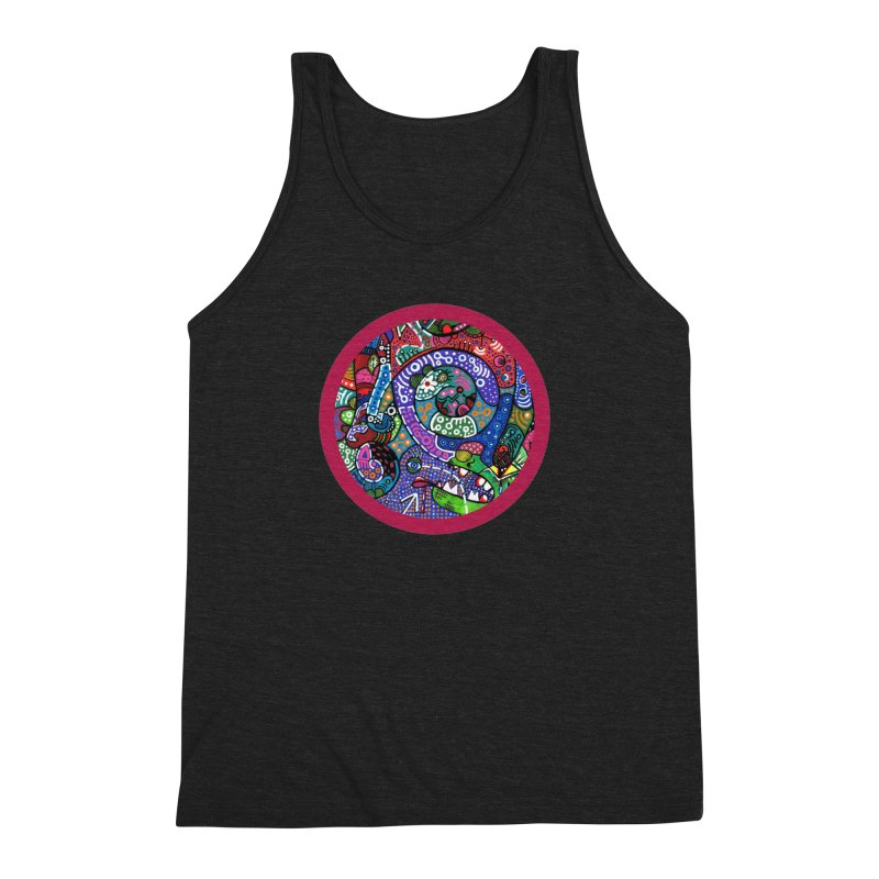 """the alligator in the garden"" redesign Men's Triblend Tank by J. Lavallee's Artist Shop"