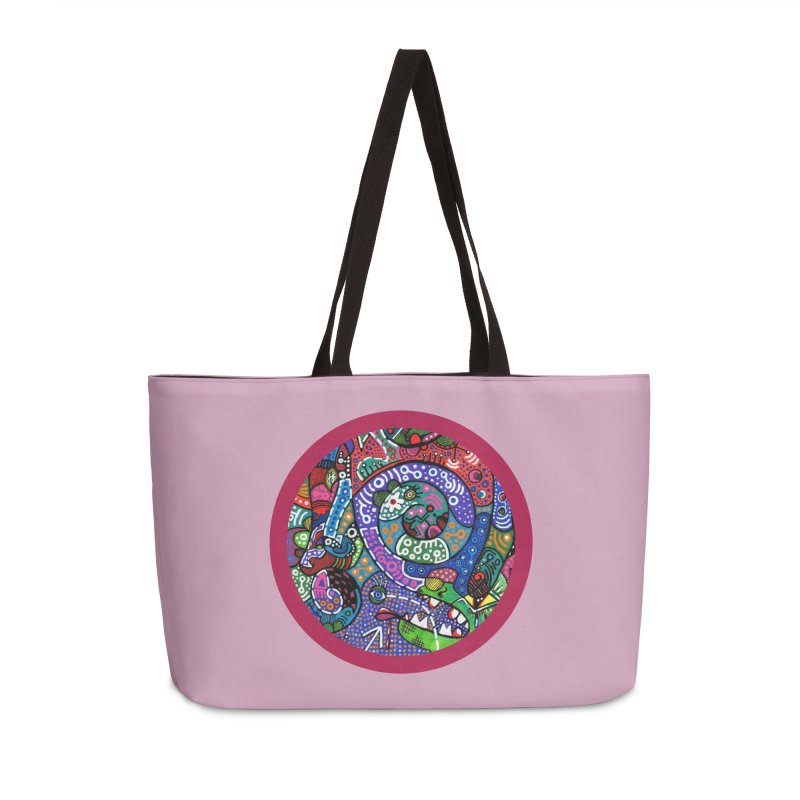 """the alligator in the garden"" redesign Accessories Weekender Bag Bag by J. Lavallee's Artist Shop"