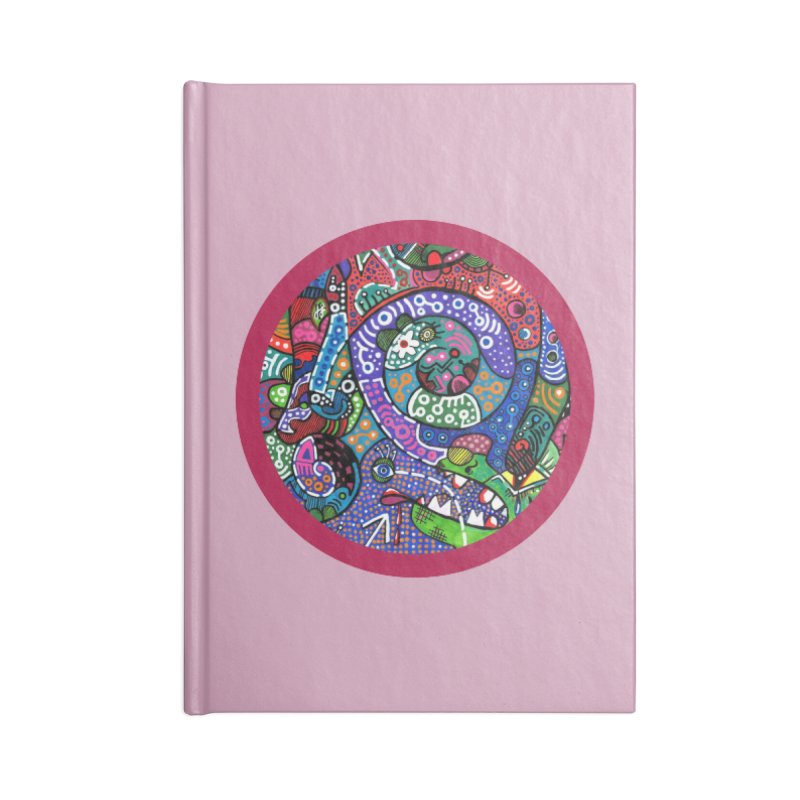 """the alligator in the garden"" redesign Accessories Lined Journal Notebook by J. Lavallee's Artist Shop"