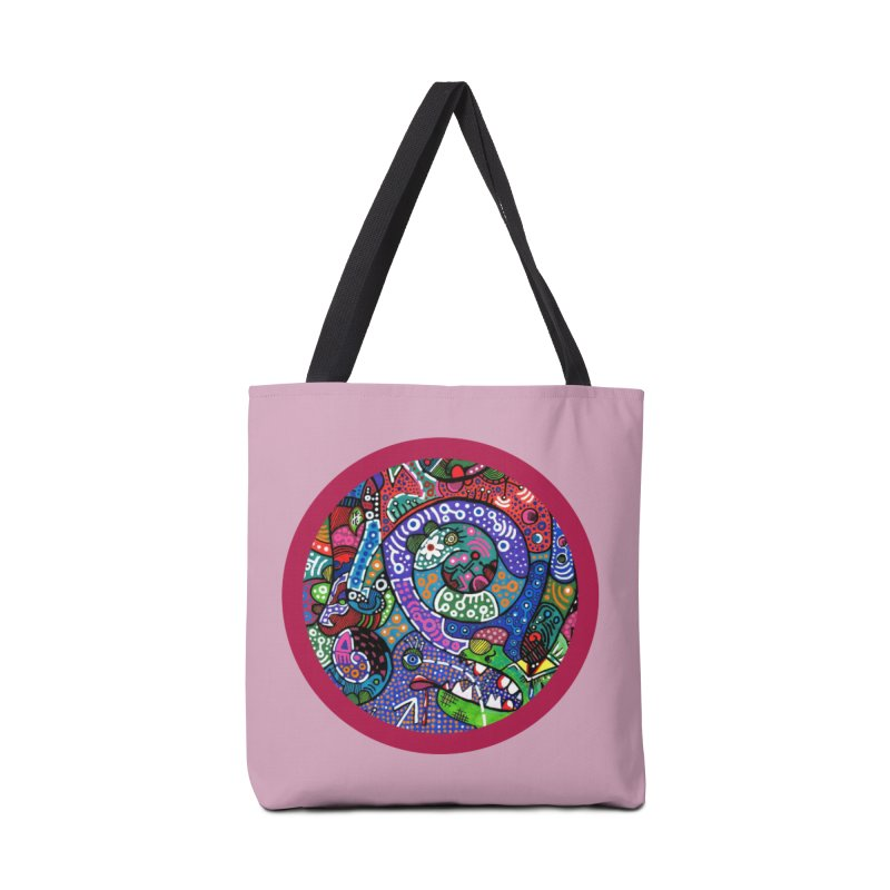"""the alligator in the garden"" redesign Accessories Tote Bag Bag by J. Lavallee's Artist Shop"