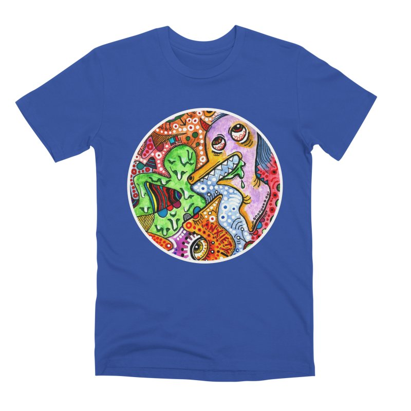 """""""anxiety"""" redesign Men's Premium T-Shirt by J. Lavallee's Artist Shop"""