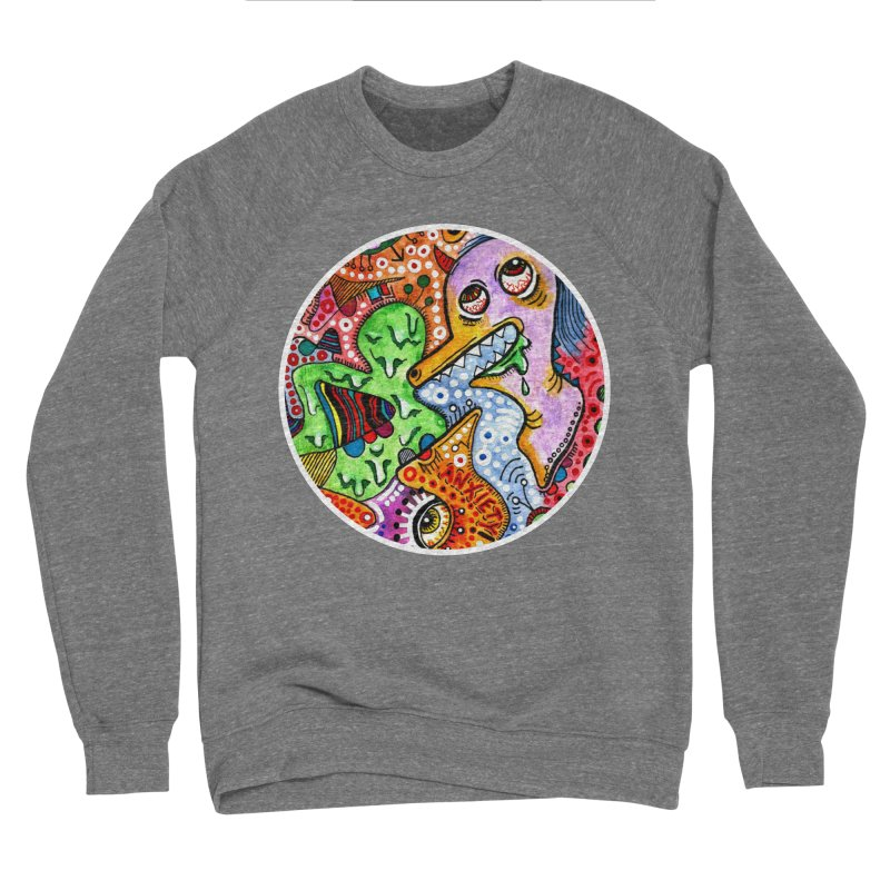 """""""anxiety"""" redesign Women's Sponge Fleece Sweatshirt by J. Lavallee's Artist Shop"""