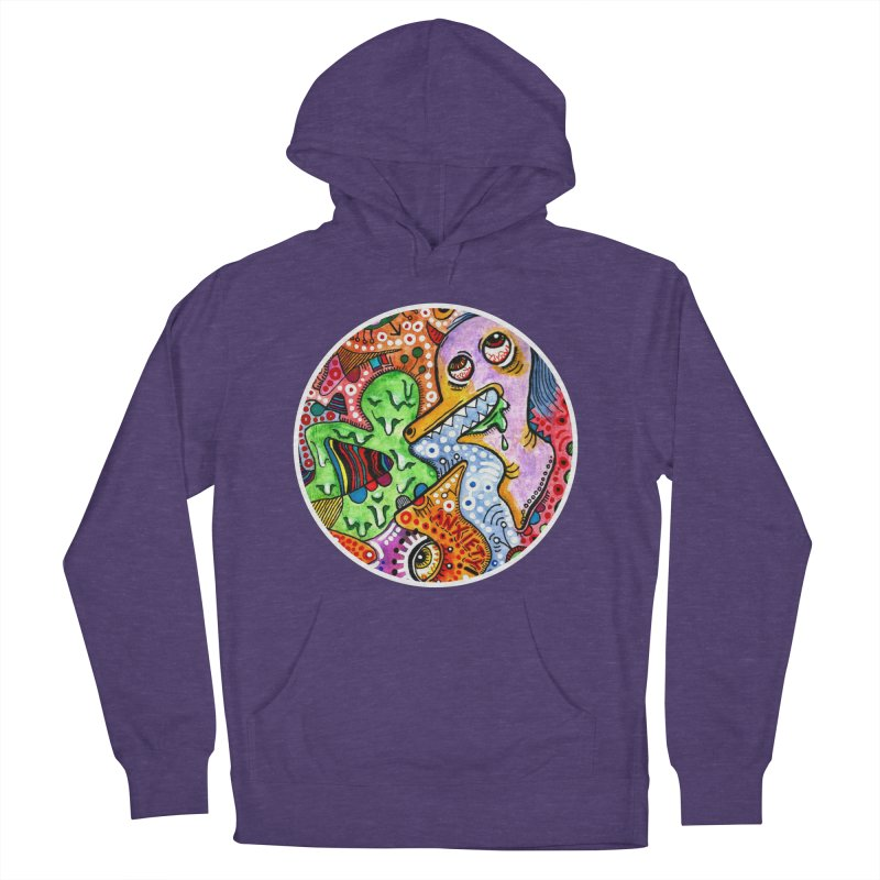"""""""anxiety"""" redesign Women's French Terry Pullover Hoody by J. Lavallee's Artist Shop"""