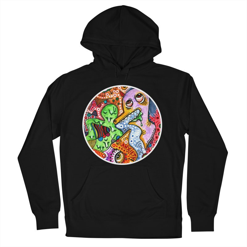"""anxiety"" redesign Women's French Terry Pullover Hoody by J. Lavallee's Artist Shop"