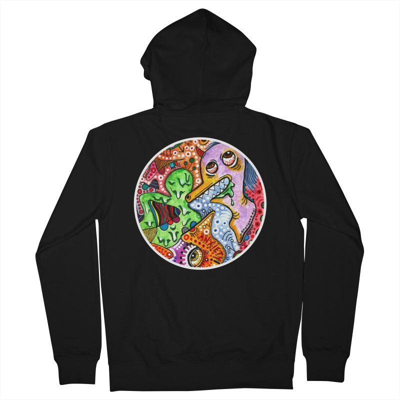"""anxiety"" redesign Men's French Terry Zip-Up Hoody by J. Lavallee's Artist Shop"