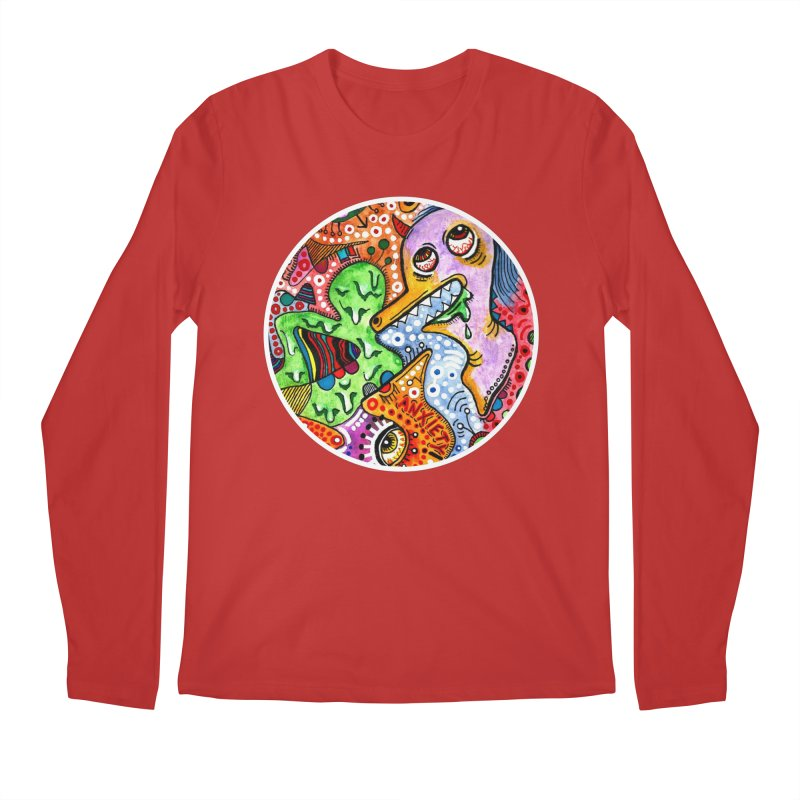 """anxiety"" redesign Men's Regular Longsleeve T-Shirt by J. Lavallee's Artist Shop"