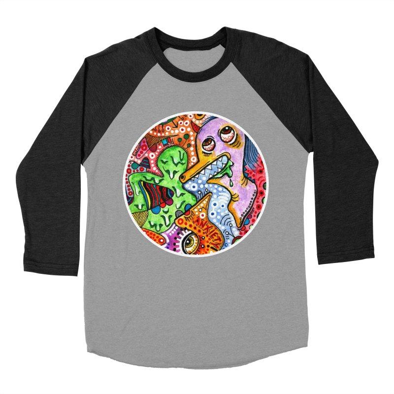 """anxiety"" redesign Women's Baseball Triblend Longsleeve T-Shirt by J. Lavallee's Artist Shop"