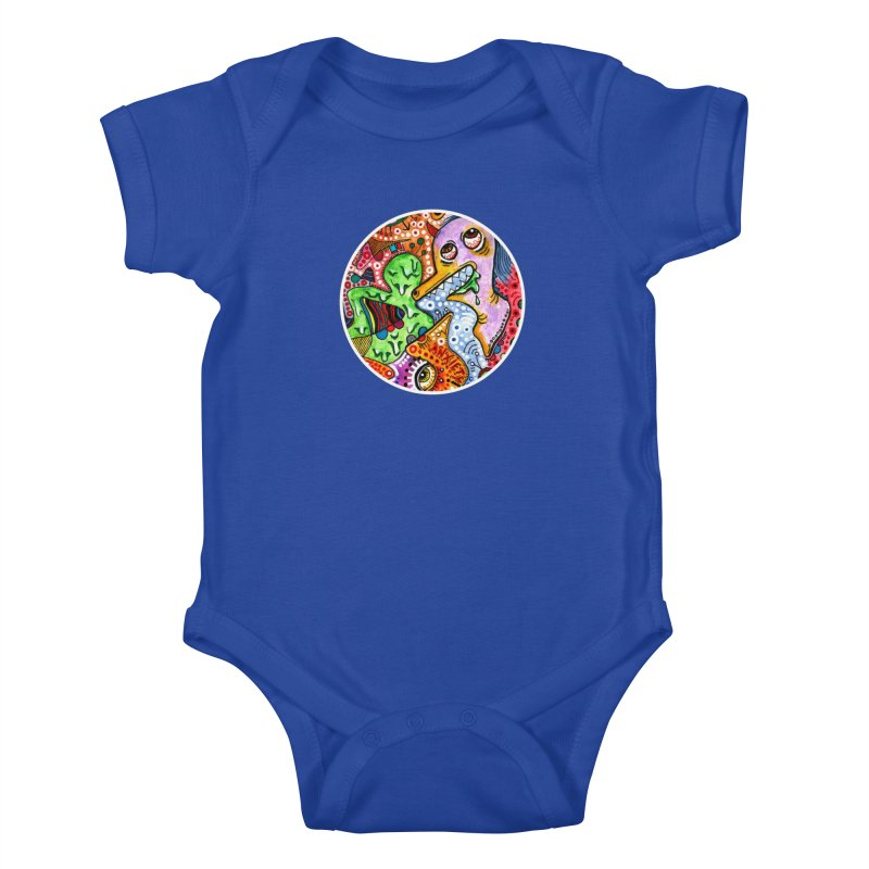 """anxiety"" redesign Kids Baby Bodysuit by J. Lavallee's Artist Shop"