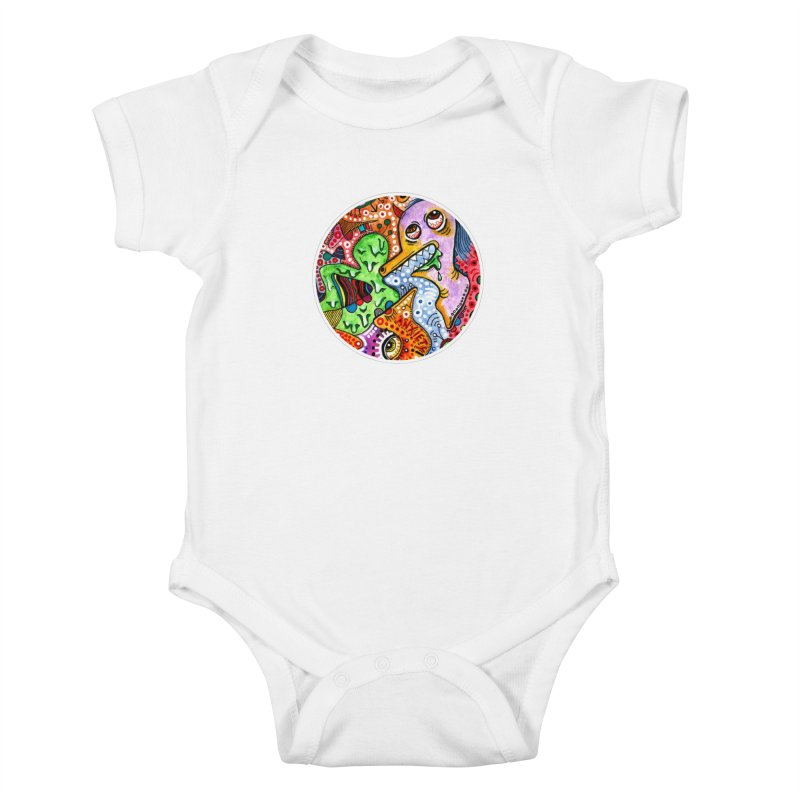 """""""anxiety"""" redesign Kids Baby Bodysuit by J. Lavallee's Artist Shop"""