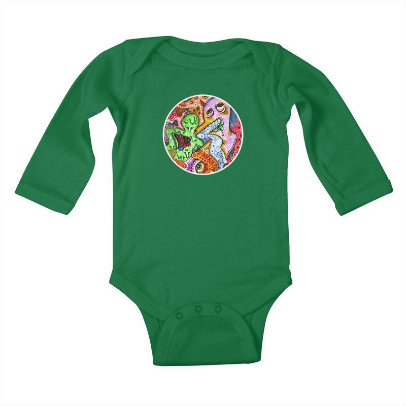 """anxiety"" redesign Kids Baby Longsleeve Bodysuit by J. Lavallee's Artist Shop"