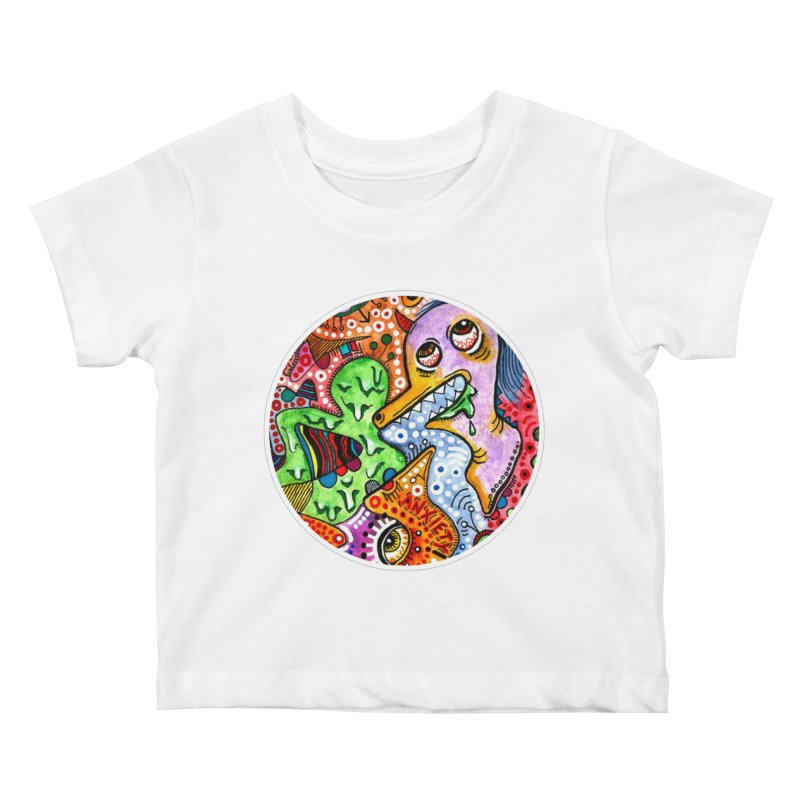 """anxiety"" redesign Kids Baby T-Shirt by J. Lavallee's Artist Shop"
