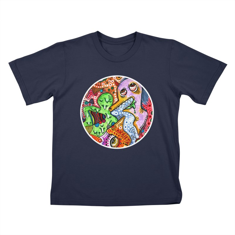 """anxiety"" redesign Kids T-Shirt by J. Lavallee's Artist Shop"
