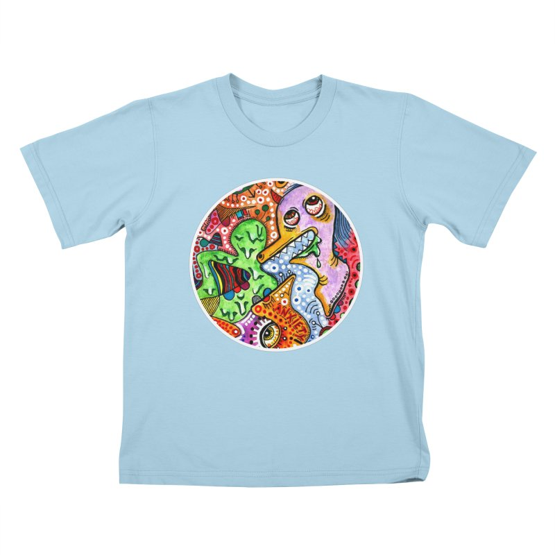 """""""anxiety"""" redesign Kids T-Shirt by J. Lavallee's Artist Shop"""